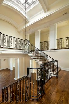 Stair Hall with barrel ceiling & skylights, Atherton, California