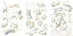 Development work for 'Hermelin: The Detective Mouse' by Mini Grey
