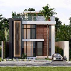 House Outer Design, Modern Small House Design, Modern Villa Design, Modern Exterior House Designs, House Front Design, Dream House Exterior, Exterior Design, Architecture Building Design, Facade Design
