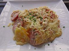 Sahniges Kartoffel - Fleischwurst - Gratin 1