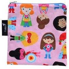 Large Reusable Snack Bag - Super Girl