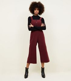 18303a73b6e NEW LOOK NEW Plum Corduroy Button Front Culotte Jumpsuit SIZE 18 RRP 29.99   fashion  clothing  shoes  accessories  womensclothing  jumpsuitsrompers  (ebay ...