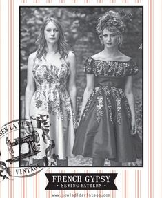 French Gypsy Dress by Sew La Di Da Vintage