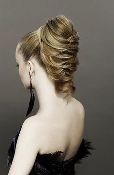 Love this style!  Great for longer hair and not take away from a great dress.