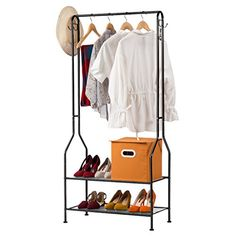 LANGRIA Heavy Duty Commercial Grade Clothing Garment Rack...