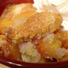 GRANDMOTHER'S FAVORITE PEACH COBBLER