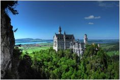 Schloss Neuschwanstein is perhaps the most picturesque, the most recognizable of Germany's great castles. This is the one that inspired the magical castle at Disneyland. It was originally built between 1869 and 1886 and was the ultimate fantasy of the Mad King Ludwig.