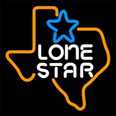 Lone Star Neon Beer Sign 16x16