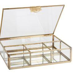 Sieraden box Glas 4 Vak | | Sissy-Boy Online store