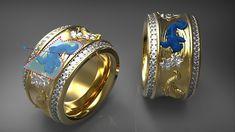 3D Jewellery Design Software - ArtCAM JewelSmith Bridal Jewelry, Gold Jewelry, Beaded Jewelry, Jewelry Rings, Jewelery, Fine Jewelry, Jewelry Making, Photo Jewelry, Fashion Jewelry