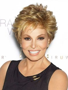 One of the many cute short styles in the line of Raquel Welch's wigs.  Short, medium, long... doesn't matter which... she looks amazing in every one of them.  The truth of the matter is that she is just one of those women that would be still be beautiful if she were completely bald.
