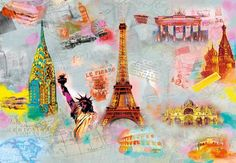 Buy the Brewster Around The World Direct. Shop for the Brewster Around The World Around The World Wall Mural and save. Buy Wallpaper Online, Of Wallpaper, Giant Wall Art, Brewster Wallpaper, Door Murals, Mural Wall, Scrapbooking, Collage, Around The Worlds