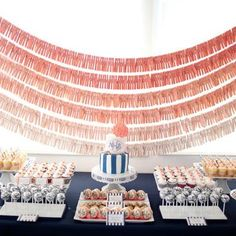 Ombre backdrop for dessert table