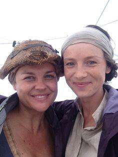 Annika sans goats with Claire