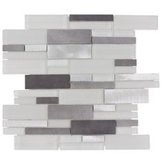 Harbour Island Linear Glass Mosaic 12in X 12in