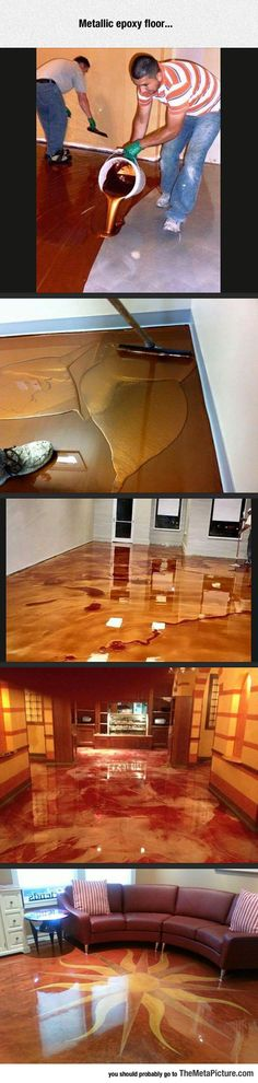 Funny pictures about Epoxy Floor. Oh, and cool pics about Epoxy Floor. Also, Epoxy Floor photos. Basement Flooring, Flooring Ideas, Diy Flooring, Flooring Options, Concrete Floors, Stained Concrete, Concrete Staining, Pallet Floors, Floor Design