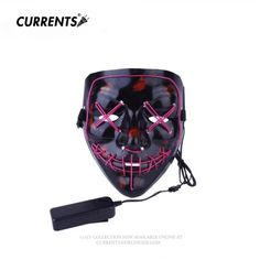Festive & Party Supplies Party Masks Brilliant Mask Led Festival Party Masks Luminous Flashing Face Mask Party Sound Control Halloween Clothing Terror Helmet Fire