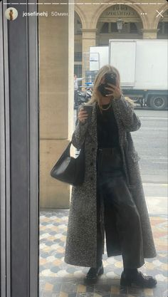 Winter Mode Outfits, Winter Fashion Outfits, Autumn Winter Fashion, Spring Outfits, Casual Outfits, Cute Outfits, Instagram Mode, Instagram Fashion, Long Coat Outfit