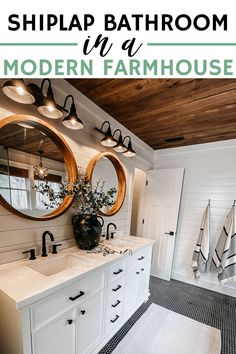 Cabin Bathrooms, Upstairs Bathrooms, Next Bathroom, Farm House Bathroom, Small Cabin Bathroom, Small Master Bathroom Ideas, Rustic Cabin Bathroom, Modern Small Bathrooms, White Vanity Bathroom