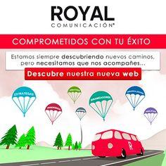 Os presentamos la nueva imagen de Royal Comunicación, ¿Qué os parece? ¡Visita nuestra actualizada web! #marketing #web