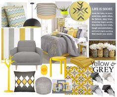 www.monnabraga.com Selecionei alguns quartos de casal de todos os estilos e gostos inspiradores nos tons amarelo e cinza: www.monnabraga.com