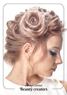 Coafura pentru evenimente. Idei de impletituri pentru parul lung by #beautycreators #donnacarina