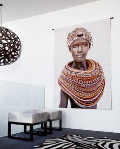 Samburu Girl Wallhanging by Mario Gerth   Home By Tribal Artwork