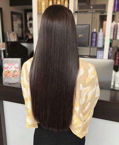 Straight Hair Updo, Brown Straight Hair, Long Brown Hair, Straight Hairstyles, Straight Cut, Straight Wigs, Cut Hairstyles, Beautiful Long Hair, Gorgeous Hair