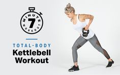 This kettlebell workout uses your full body. Kettlebell Training, Kettlebell Deadlift, Training Fitness, My Fitness Pal, Kettlebell Swings, Fitness Motivation, Workout Fitness, Workout Tips, Body Fitness