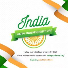 15 August Indian independence day 2020 greeting card with name is the latest online portal which is designed to celebrate Indian independence day online in a unified way.  #15august #15august2020 #happy15august #happy15august2020 #15augustimages #15augustpictures #15augustpics #15augustphotos #15augustindependenceday #15augustwishes #happy15augustwishes #15augustquotes #15augustcard #thefestivalwishes  #happy15augustindependencedayimages #IndianFlag #Independenceday2020 #74thIndependenceday2020 Indian Independence Day Images, Happy Independence Day Messages, Independence Day Greeting Cards, Happy Independence Day India, 15 August Picture, India Republic Day Images, Republic Day Message, Happy 15 August, January
