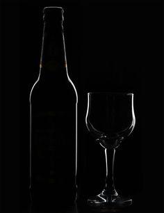 black, glass