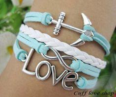 d13d2024a0144 Charm love Bracelet infinity bracelet  Spear by Cuffloveshop