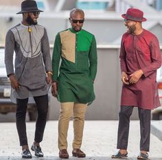 The most stylish collection of native styles and designs for guys and men in Nigeria. These men native styles for guys are meant to make you stylish and matured African Clothing For Men, African Shirts, African Print Fashion, African Fashion Dresses, Africa Fashion, African Attire, African Wear, African Style, Dope Fashion