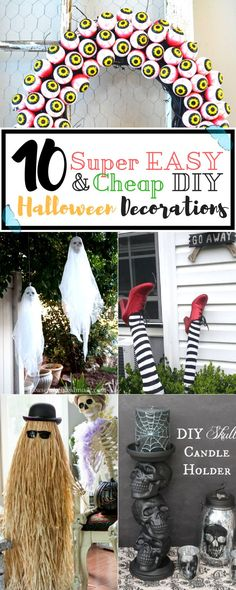Because Halloween is getting closer and closer, we wanted to share with you 10 Super easy to make (and surprisingly cheap) DIY Halloween Decorations you can make, to wow and scare your friends!