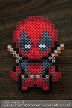 Continuing with the Christmas gifts for people, I made my boyfriend's sister a miniature Deadpool. The original sprite is by cx-asuka and can be found here, I simply recolored it to my fuse bead pa...
