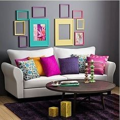 28 Awesome Colorful Living Room Decor Ideas And Remodel For Summer Project. If you are looking for Colorful Living Room Decor Ideas And Remodel For Summer Project, You come to the right place. Living Room Decor Colors, Colourful Living Room, Room Colors, Living Room Designs, Bedroom Decor, Colorful Rooms, Colorful Decor, Paint Colors, Living Room Remodel