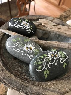 Love You Like A Rock. Painted Love Rock, Word Rocks  Perfect for that Someone Special in your life. Makes a Great one of a kind Wedding Gift. This Rock can be custom ordered with names of Bride & Groom and wedding date on reverse side.  Tap on MORE for full description  Details-