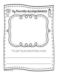 END OF YEAR MEMORY BOOK DINOSAURS - TeachersPayTeachers.com