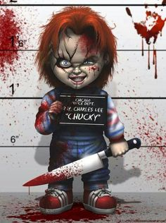 'Chucky from Childs play' Throw Pillow by Venomous Butterfly Horror Icons, Horror Art, Chucky, Cabbage Patch Kids, Scary Movies, Horror Movies, Creation Art, Dope Art, Mug Shots