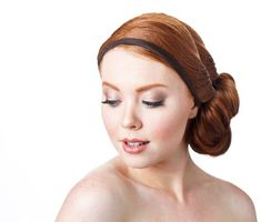 Narrow Fabric Hair Band For Women With Adjustable Back | Etsy Turban Headbands, Knot Headband, Headbands For Women, Down Hairstyles, Hair Band, Grosgrain, Short Hair Styles, Colors, Fabric