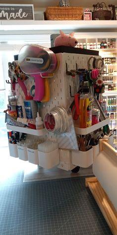 Craft desk organizer hack using SKÅDIS pegboard - IKEA Hackers