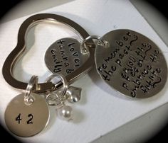Remember the past - enjoy the present - embrace the future -- PERSONALIZED RETIREMENT gift -- Handstamped Keychain on Etsy, $37.00