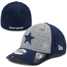Men's Dallas Cowboys New Era Navy Shadow Tech 39THIRTY Flex Hat