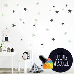 Estrellas Tatto color a elegir - Vinilo decorativo de pared