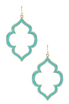Ariella Collection Enamel Spade Earrings