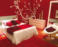 Beautiful Warm Heart Chakra Colors Home Bedroom Red Decor Design
