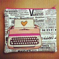 Typewriter Pouch by jenib320, via Flickr