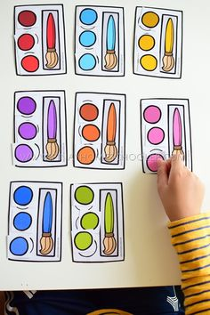 Back to School Preschool and Kindergarten Learning Materials Pre Reading Activities, Fall Preschool Activities, Kindergarten Learning, Counting Activities, Back To School Activities, Teaching Math, Maths, Teaching Ideas, Emotional Child