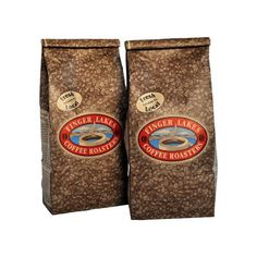 Finger Lakes Coffee Roasters, Jamaican Me Crazy Decaf Coffee, Ground, 16-ounce bags (pack of two)