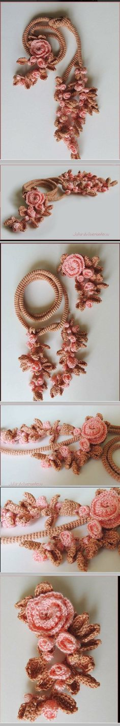 Ю.Двойникова Freeform Crochet, Tapestry Crochet, Crochet Motif, Crochet Lace, Crochet Patterns, Love Crochet, Irish Crochet, Crochet Flowers, Diy Necklace Making